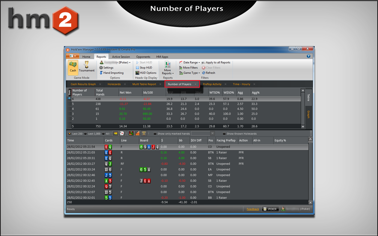 Caddy report holdem manager