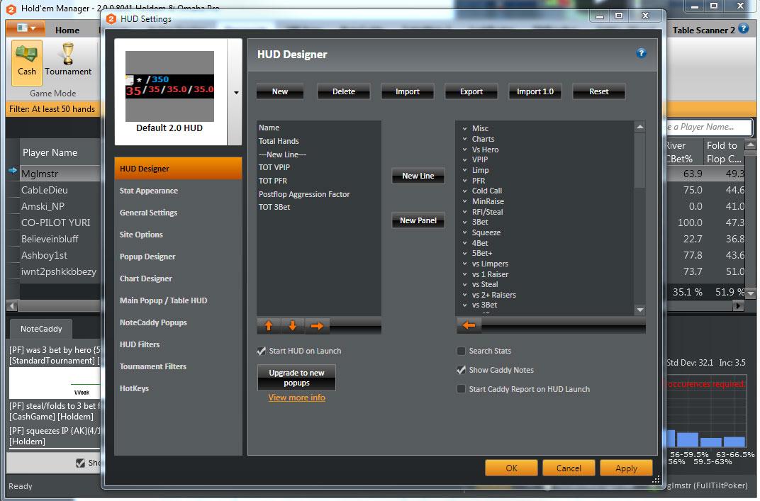 HUD Options Screenshot
